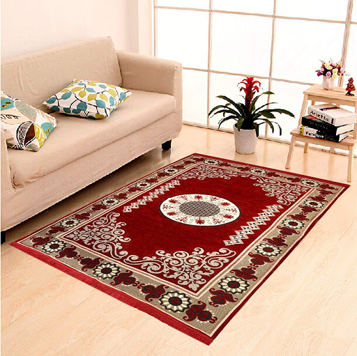 0-Ferdis Carpet Washing-Carpet with red flowers